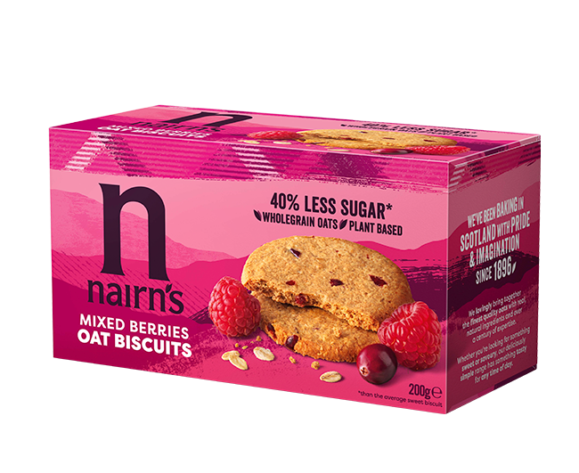 Mixed Berries Oat Biscuits >>