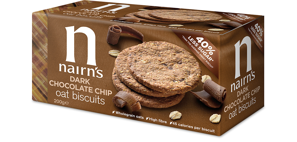 Dark Chocolate Chip Oat Biscuits Nairns Oatcakes