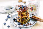 Oat Blueberry Pancakes